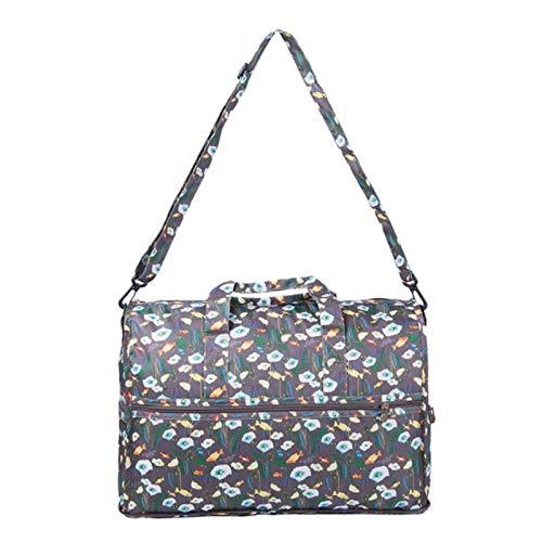 18451b5c0dd0 Amazon.com : Saasiiyo Printing Nylon Folding Travel Bag Women Duffle ...