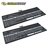 2x Exell Li-Polymer 3.7V Battery Fits ASUS VivoTab Smart ME400C Tablets Replaces C12-TF400C