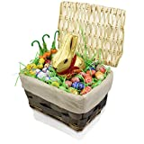 GIFT UNIVERSE - Lindt Easter Gift Basket - Lindt Easter Gold Bunny 7 Ounce and Lindt Easter Friends 35-pc