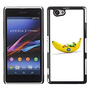 CaseCaptain Carcasa Funda Case - Sony Xperia Z1 Compact / Cool Frog & Banana /
