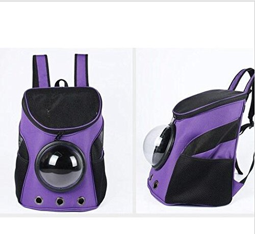 Dominich Wilson Pet Puppy Travel Capsule Space Bags Backpack Carrier for Puppies Dogs Cats Crate Tote Cage Folding Kennel Pet Bag Portable Carrier Dog Cat Space Capsule Shaped Pet Travel (Purple)