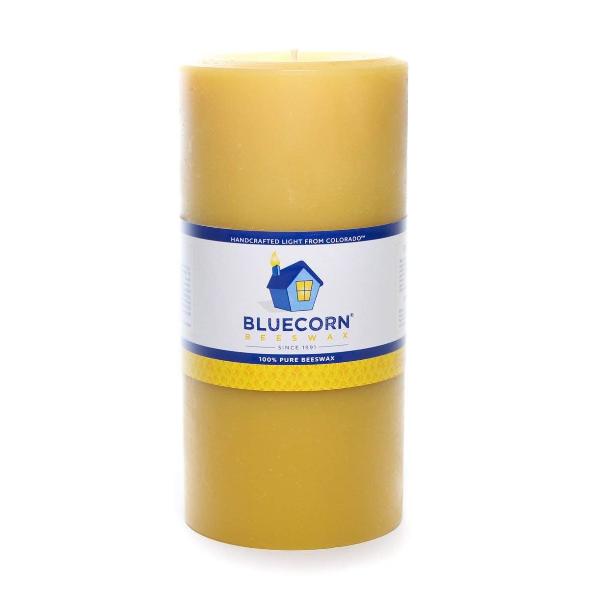 Bluecorn Beeswax 100% Pure Raw Beeswax Pillar: 4''x 8''