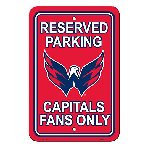 NHL Authentic Reserved Parking Sign, 12 x 18 Inch - Washington Capitals (America Furniture Capital Of)