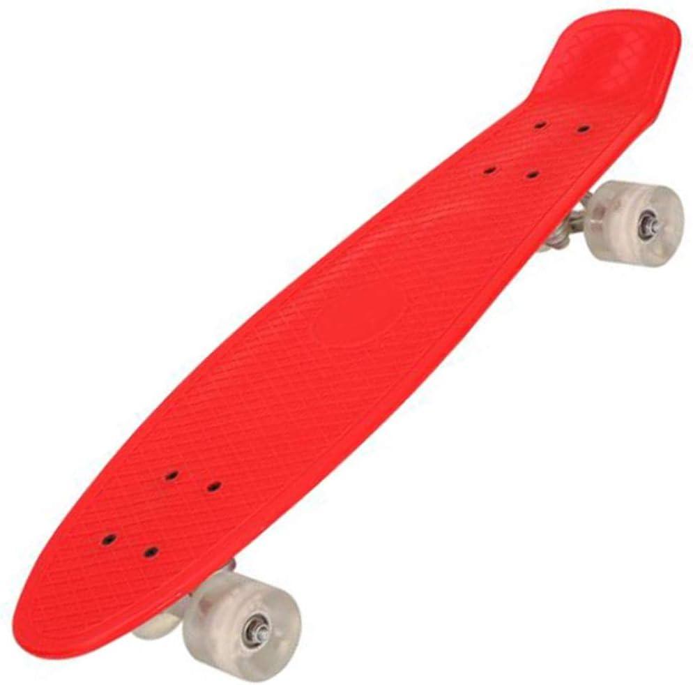 ボーイズ初心者のためのキッズスケートボード、成人の27インチ小魚プレート点滅ホイールとプラスチックスケートボードの子供ブラシストリート (Color : 赤, Size : 66.8*18.5CM) 赤 66.8*18.5CM