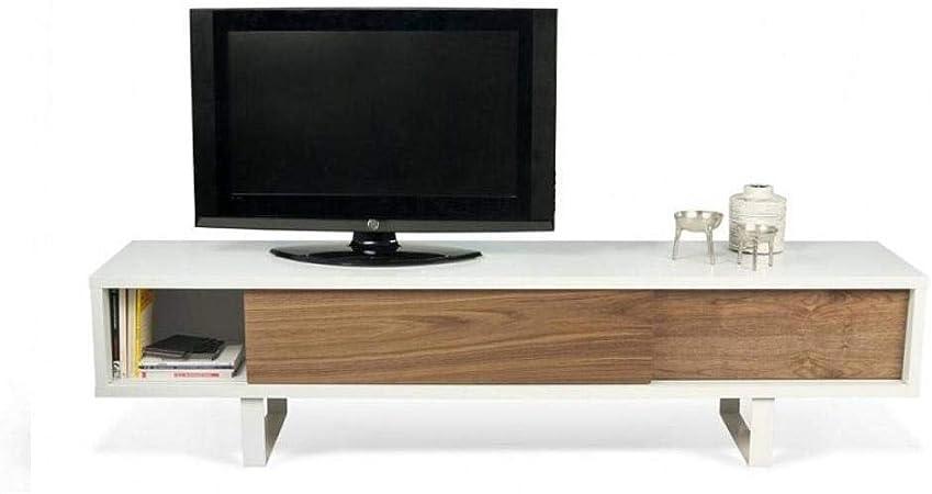Tema Home Slide - Mueble para TV con 2 Puertas correderas de Nogal: Amazon.es: Hogar