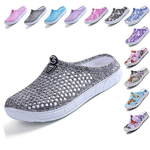 LIGHFOOT Garden Clog Shoes Beach Footwear Water bash Womens Summer Slippers Gray - Sandals Designed Women Summer