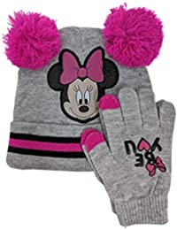 Disney Minnie Mouse Knitted Beanie Hat and Gloves Set