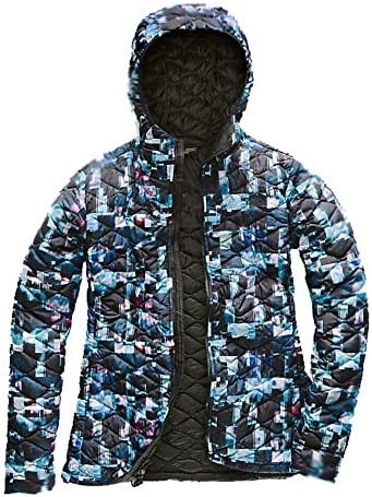 The North Face Womens Packable Thermoball Hoodie Multi Glitch Print Sz S M