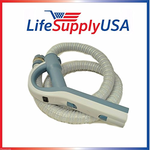 LifeSupplyUSA Electric Vacuum Hose with Pistol Grip Handle for Aerus Electrolux Lux Legacy Epic 5000, 6000, 6500# 26-1129-22 in Blue/White