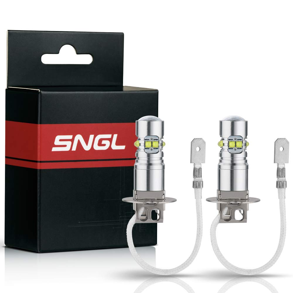 Amazon.com: SNGL H3 Super Bright CREE LED DRL Fog Light bulbs - Plug-and-Play - 6000K Cool White (Pack of 2): Automotive