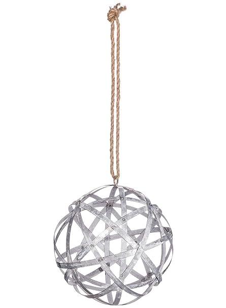 Amazon Com Sullivans Galvanized Metal Round Ball Orb On Twine Over