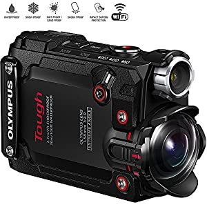 Olympus Stylus TG-Tracker 4K Action Cam Water/Shock/Freeze-proof Black (V104180BU000) - (Certified Refurbished)