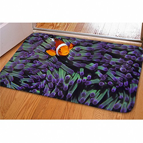 3D Creative Printing Home Carpet Funny Animal Fish Non-slip Kitchen Tapetes Rugs Para Case Sala for Home Living Room C0292CN 400mm x - Uk Designer Sales