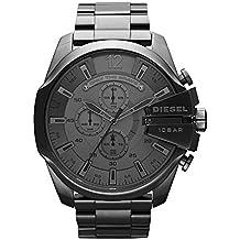 Diesel Men's Mega Chief Quartz Stainless Steel Chronograph Watch, Color: Grey (Model: DZ4282)