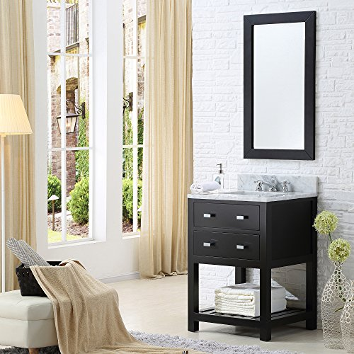Water Creation 24E Single Sink Bathroom Vanity from the Madalyn Collection, 24-Inch, Espresso