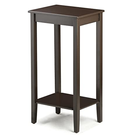 Amazon.com: Topeakmart Tall Side Coffee End Table Solid Wood ...