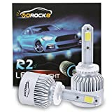 VoRock8 R2 COB 880 8000LM LED Fog Driving Light, 880 Halogen Fog Bulb Replacement, 6500K Xenon White, 1 Pair- 1 Year Warranty