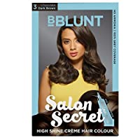 BBLUNT Salon Secret High Shine Creme Hair Colour - Dark Brown 3, 100g (Free Shine Tonic, 8ml)