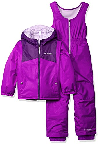 Columbia Little Girls' Double Flake Reversible Set, Iris Glow, X-Small by Columbia