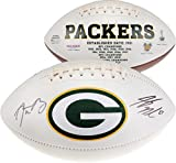 Jordy Nelson & Aaron Rodgers Green Bay Packers Dual Signed White Panel Football - Fanatics Authentic Certified