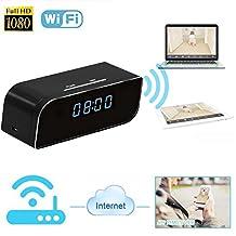 Hidden Camera Alarm Clock, Kolis Hidden Wi-Fi Cam Mini Spy Camera Alarm Clock Real-time Video Viewing Motion Activated Alarm Security & Surveillance Night Vision DV