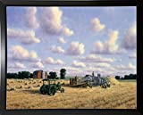 Threshing Day Print 20.71''x26.21'' by Randy Van Beek in a Budget Saver