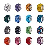 Best Beads For Charms - NBEADS 100Pcs Mix Color Crystal Charms Beads Spacers Review