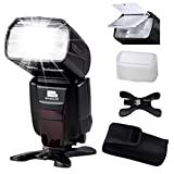 Pixel X800N PRO [FSK 2.4GHz Wireless Flash Control] Nikon i-TTL Flash Flashes High Speed Sync External Speedlite Flashgun Come with Flash Diffuser X 1,Mini Stand X 1,Flash Portable Bag X 1