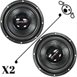 2 NEW American Bass XD844 8' 4 Ohm 1200W MAX Dual 600W RMS CAR SUBWOOFERS PAIR