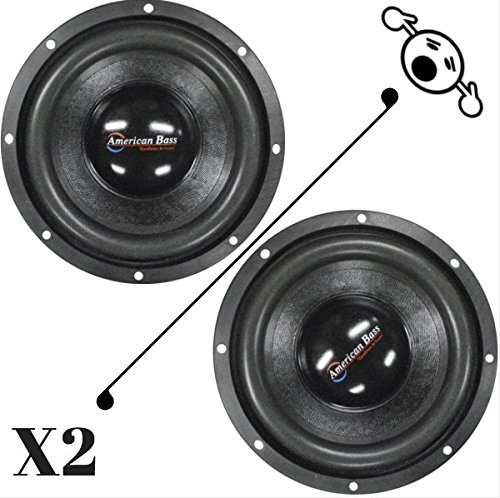 """2 NEW American Bass XD844 8"""" 4 Ohm 1200W MAX Dual 600W RMS CAR SUBWOOFERS PAIR"""