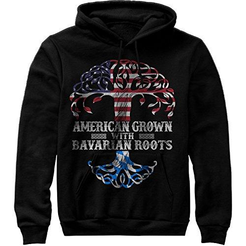 MIK Apparel American Grown with Bavarian Roots Shirt - Bavaria Germany Sweatshirt Hoodie