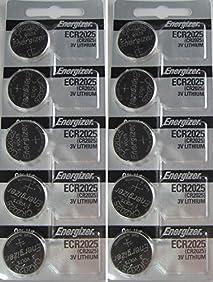 Energizer CR2025 3V Lithium Coin Battery 10 Pack (2 packs of 5)
