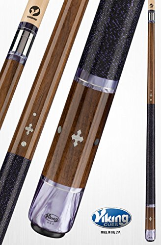 Viking A459 Pool Cue Stick 15 White Premium Pearl Inlays - East Indian Rosewood - Purple Premium Pearl Rings - Quick Release Joint ViKORE Shaft 18, 18.5, 19, 19.5, 20, 20.5, 21 oz. (19)