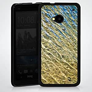 Carcasa Design Funda para HTC One M7 HardCase black - Ripples
