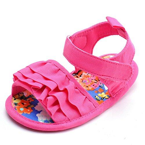 estamico Chanclas para Baby Girl Colorful inferior zapatos de bebé Roseo Talla:3-6 meses rosa