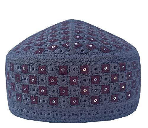 NDA Eid Kufi Muslim Men's Kufi Kashmir Handmade Stone Prayer Cap Muslim Hat - Stone Kashmir