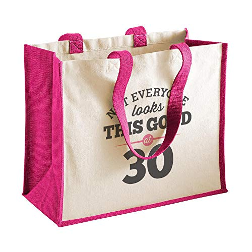 30th Birthday Keepsake Gift Bag Present for Women Novelty Shopping Tote