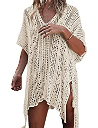Women Beach Cover Bathing Suit Covers Bikini Swimwear Covers up Crochet Dresses