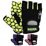 MRX Ladies Weight Lifting Gloves Women Fitness Training Exercise Glove Crossfit Multi Colors (Green/Black, Medium)