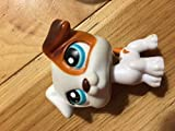 lps jack russell terrier - Jack Russell #151 (White, Brown Accents) - Littlest Pet Shop (Retired) Collector Toy - LPS Collectible Replacement Figure - Loose (OOP Out of Package & Print)