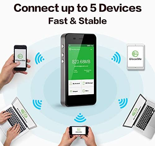 GlocalMe G3 4G LTE Mobile Hotspot Upgraded Version Worldwide High Speed WiFi Hotspot with 1GB Global
