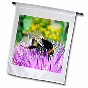 3dRose FL 913 _ 1 Busy As A Bee, Bandera de Jardín, 12 por 45,72 cm