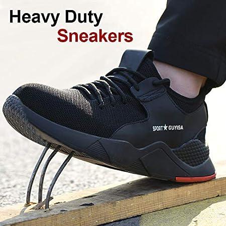 36 Huaheng 1 Par Resistente Zapatillas Zapatos de Seguridad Trabajo Transpirable Antideslizante Punci/ón Prueba para Hombre