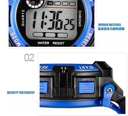KANO BAK Boy girl Child Kids Student Digital LED Quartz Alarm Sports Waterproof christmas gift Watch Red