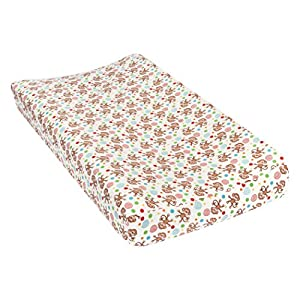 Trend Lab Monkeys Deluxe Flannel Changing Pad Cover