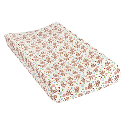 Cover Tan Flannel (Trend Lab Monkeys Deluxe Flannel Changing Pad Cover)