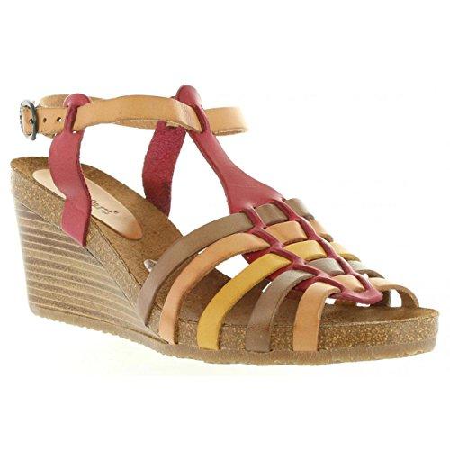 Femme Pour Kickers marron Sandales 419281 Spain Rouge 50 4 aTaE6qxw5