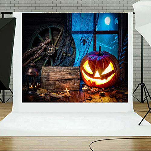 MOKO-PP Halloween Backdrops Pumpkin Vinyl 5x3FT Lantern Background Photography Studio I(I)