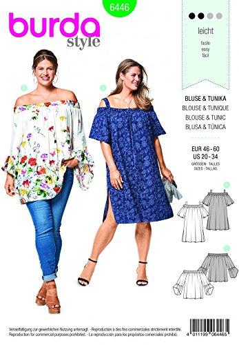 Burda Ladies Plus Size Easy Sewing Pattern 6446