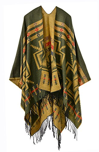 Pattern Yellow Cross (Hiwil Womens Cross Pattern Tassels Reversible Cashmere Oversized Blanket Kimono Cardigans Scarves Yellow One Size)